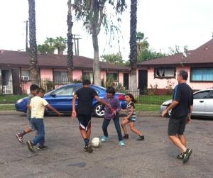 street soccer in Anaheim